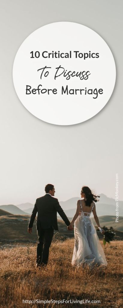 10 critical tops to discuss before marriage 1