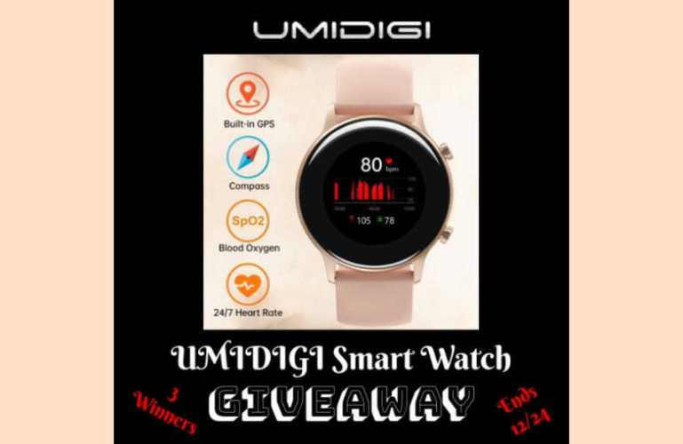 UMIDIGI Smart Watch Giveaway ends 12/24/2020