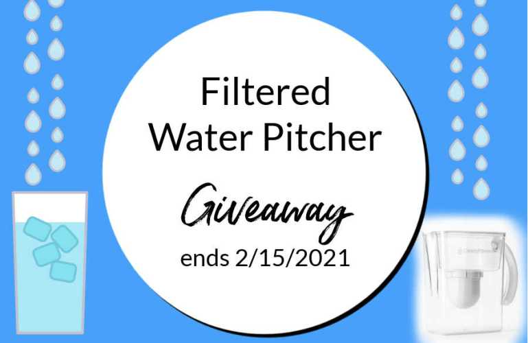 Filtered Water Pitcher Giveaway ends 2/15/21