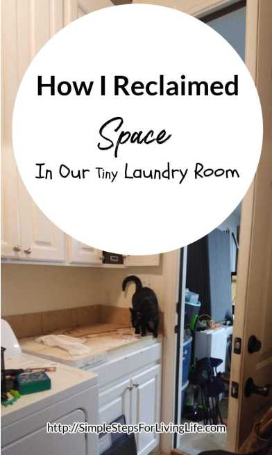 How I reclaimed space in our tiny laundry room