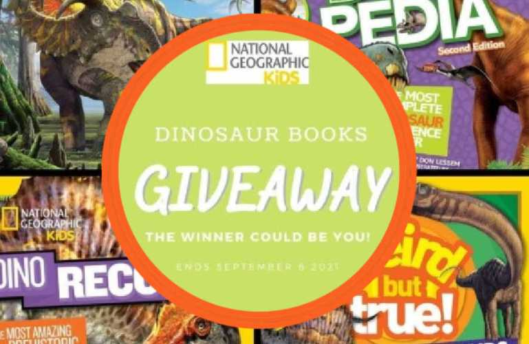 Dinosaur Books Giveaway ends 9/6/2021