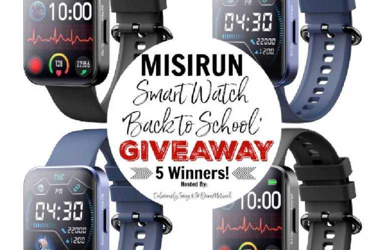 MISIRUN Smart Watch Giveaway ends 9/6/2021