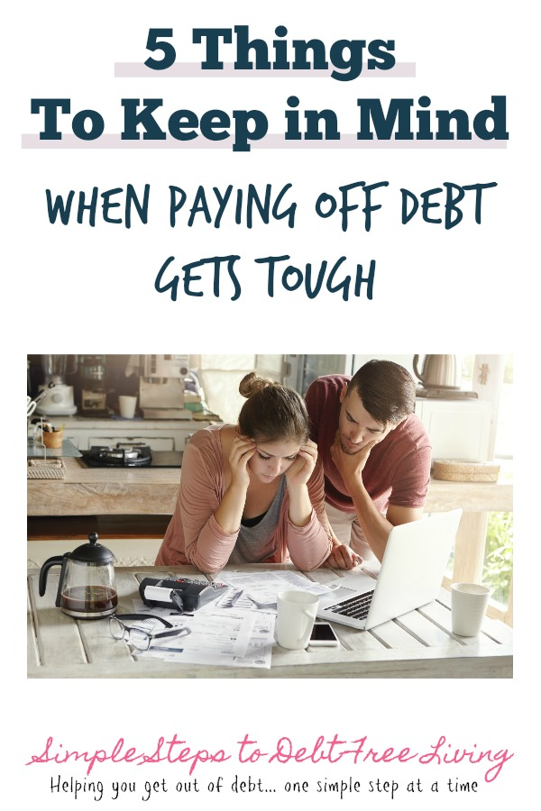 It's tough to get out of debt - use this tips to help you stay on track.