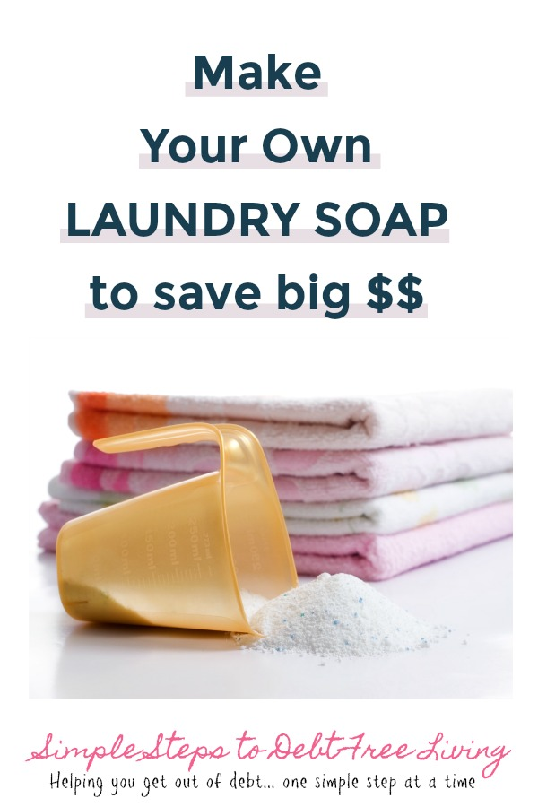Save big money with this DIY laundry soap!