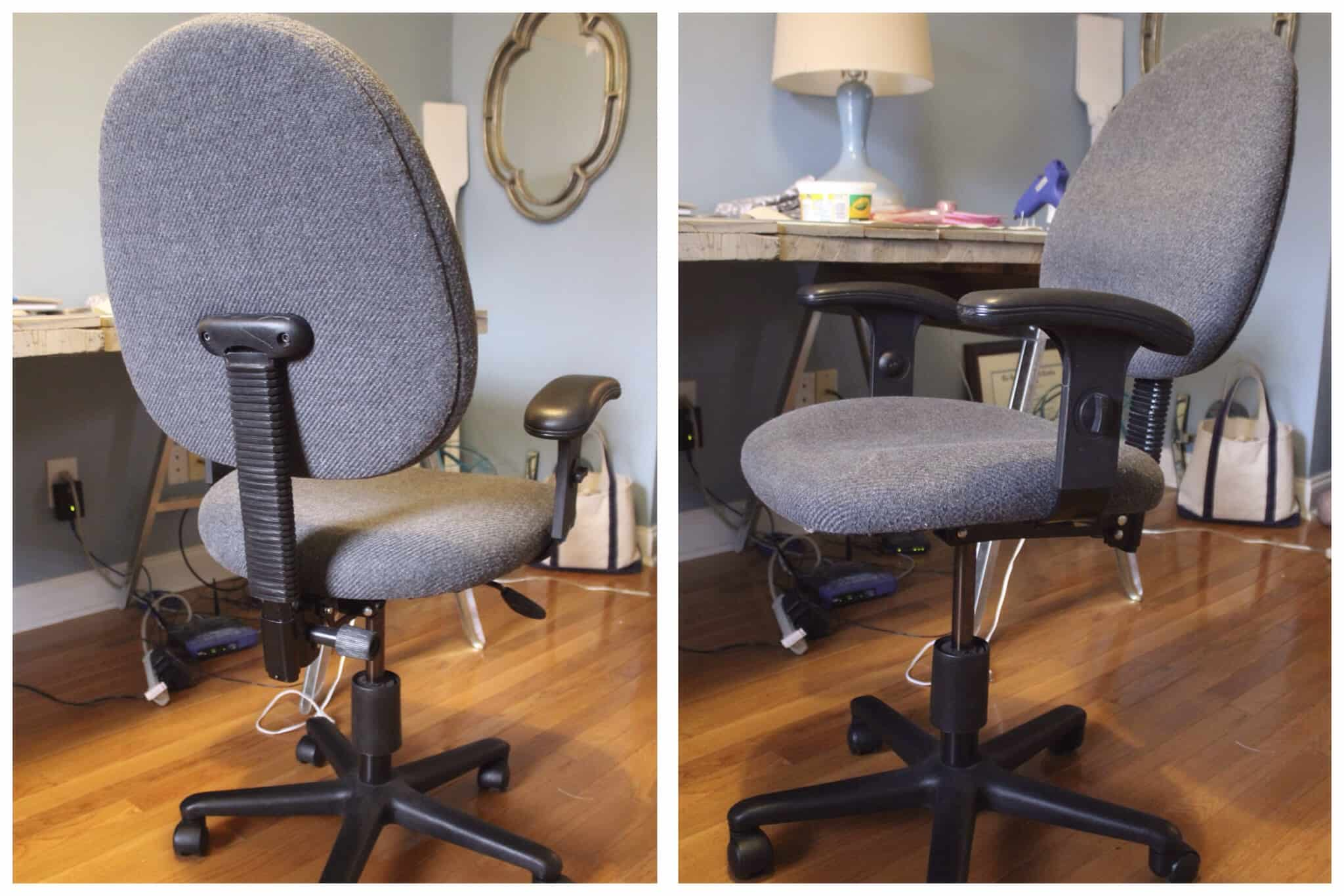 Reupholster Office Chair Diy Reupholstered Office Chair Simple Stylings