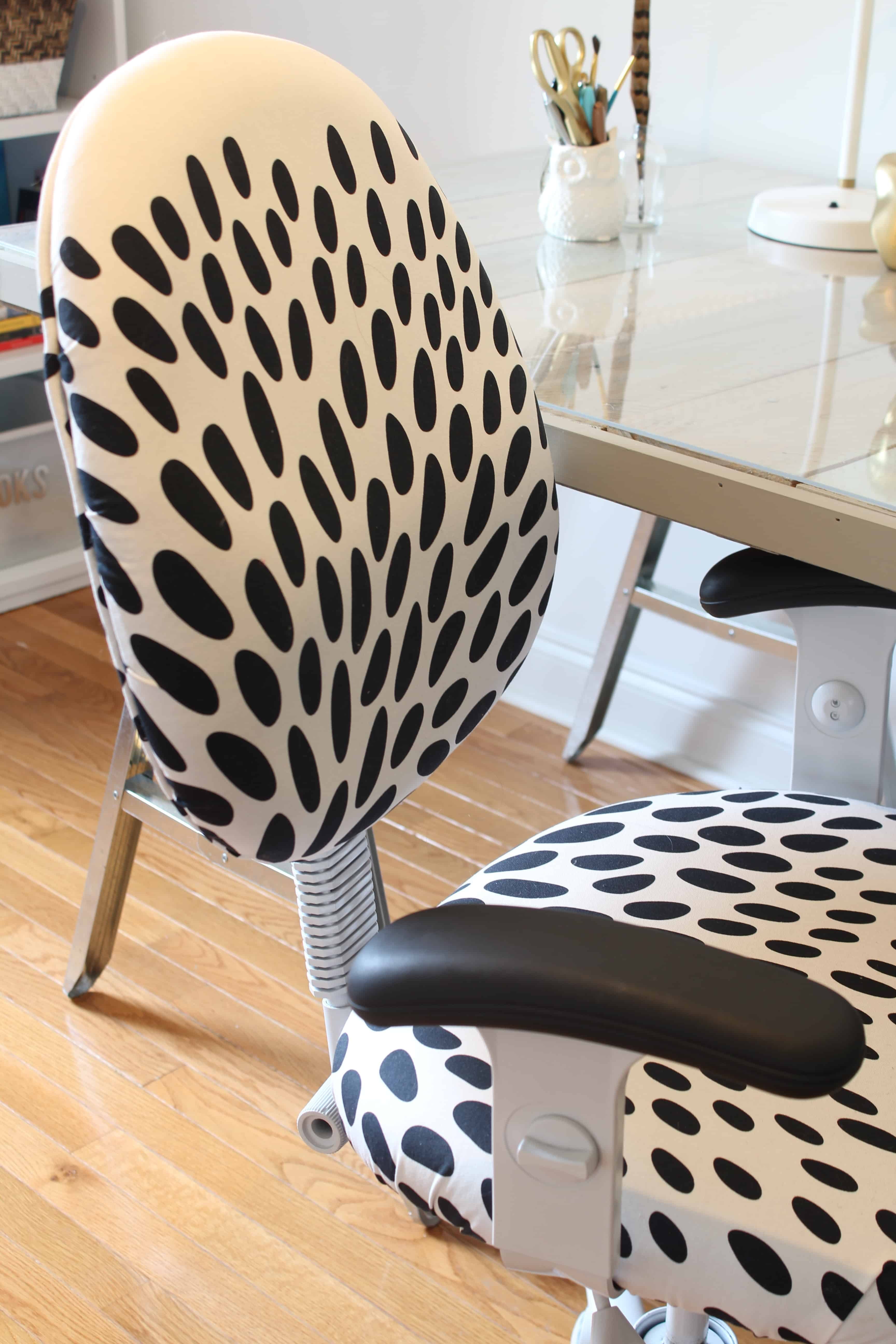 reupholster office chair with arms modern leather and ottoman diy reupholstered simple stylings