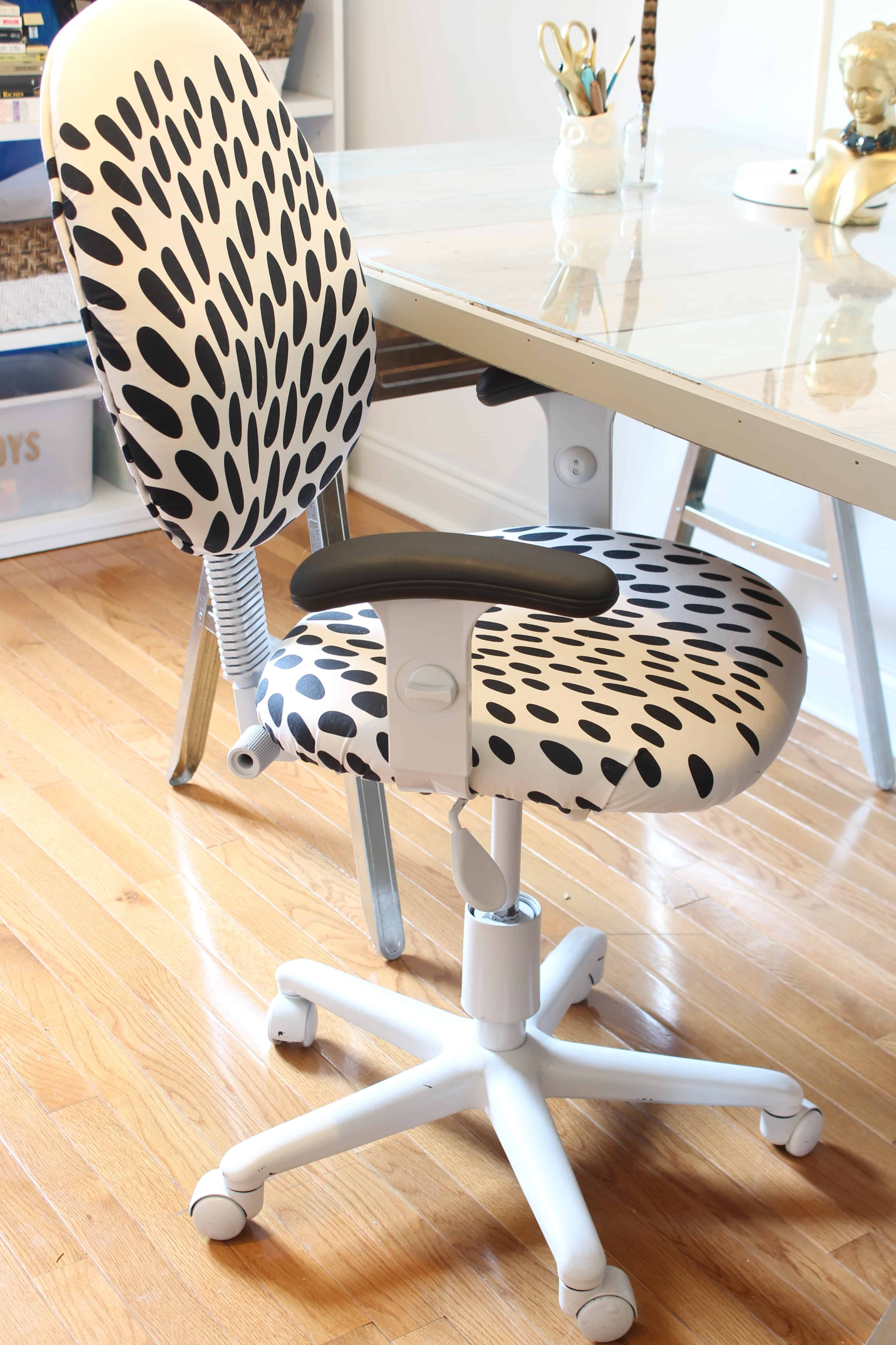 reupholster office chair with arms tantra review diy reupholstered simple stylings