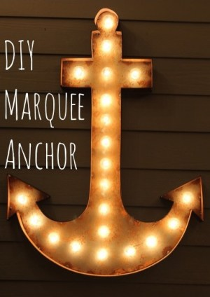 DIY Marquee Anchor