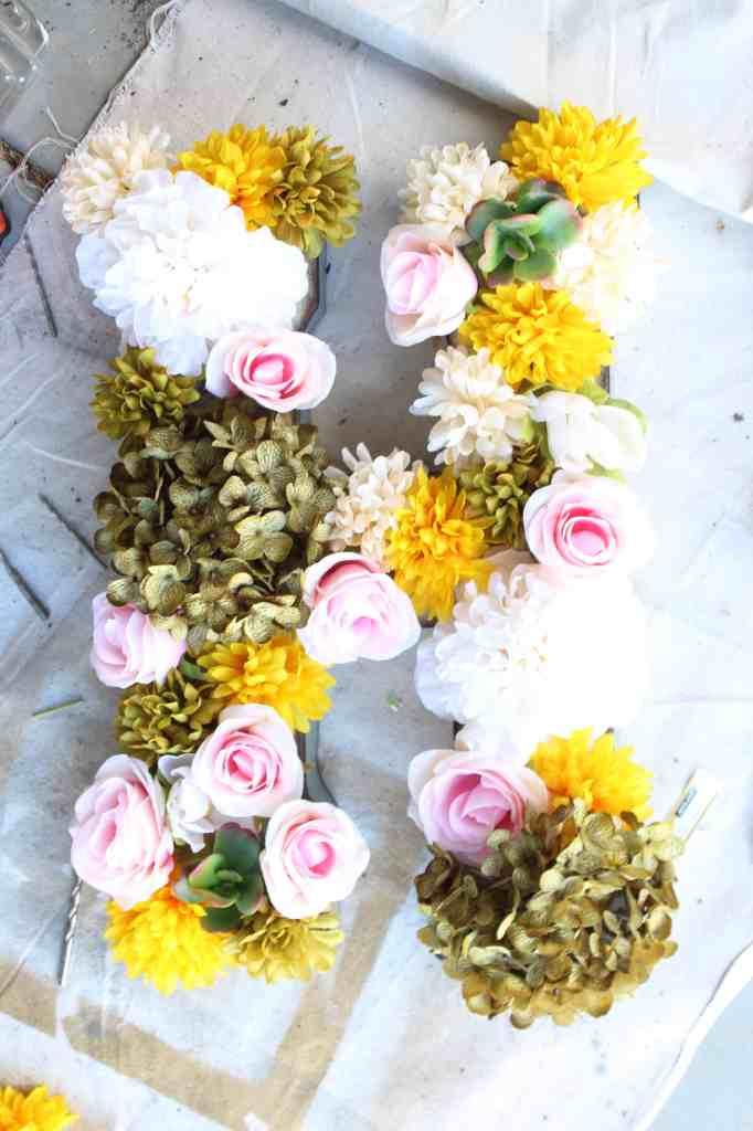 faux flower letter 5