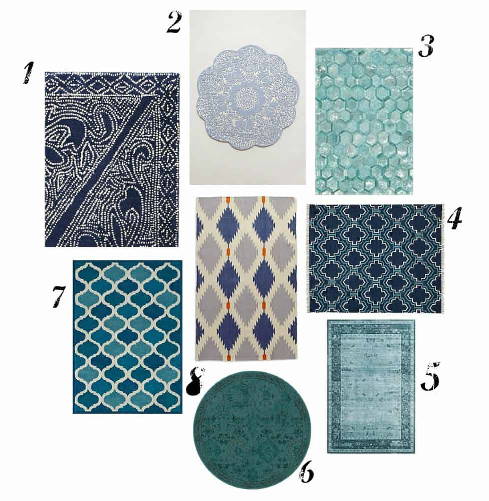 teal kitchen rugs corner nook table ideas stylish for the