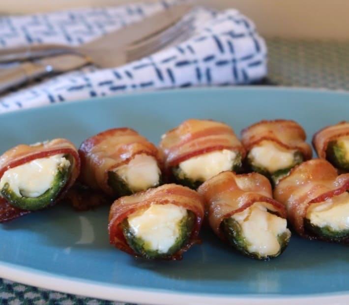 easy summertime appetizers bacon wrapped cream cheese jalapenos