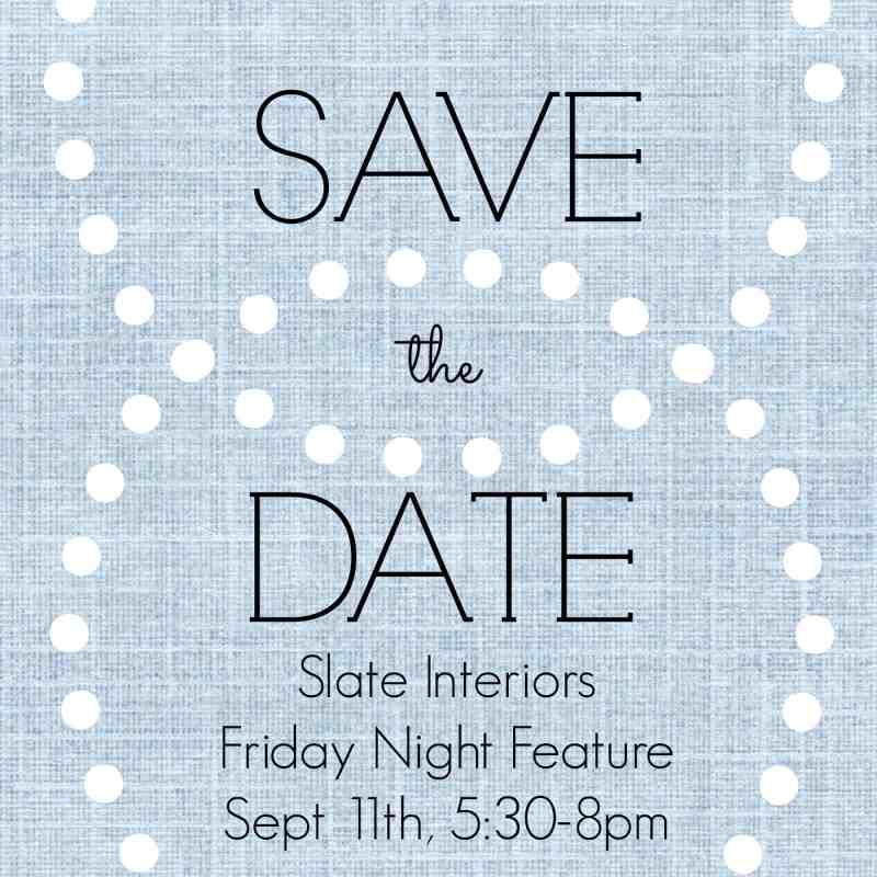 Slate Interiors Shopping Event Charlotte, NC