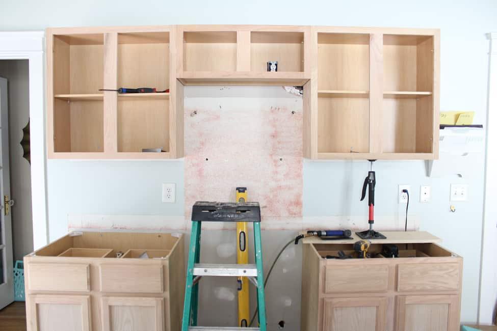 Kitchen Renovation Unfinished Oak Cabinets