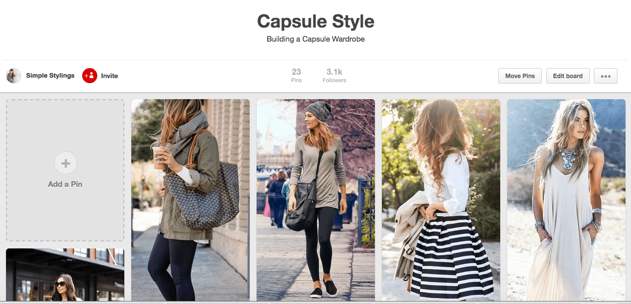 Building a Capsule Wardrobe: pinterest