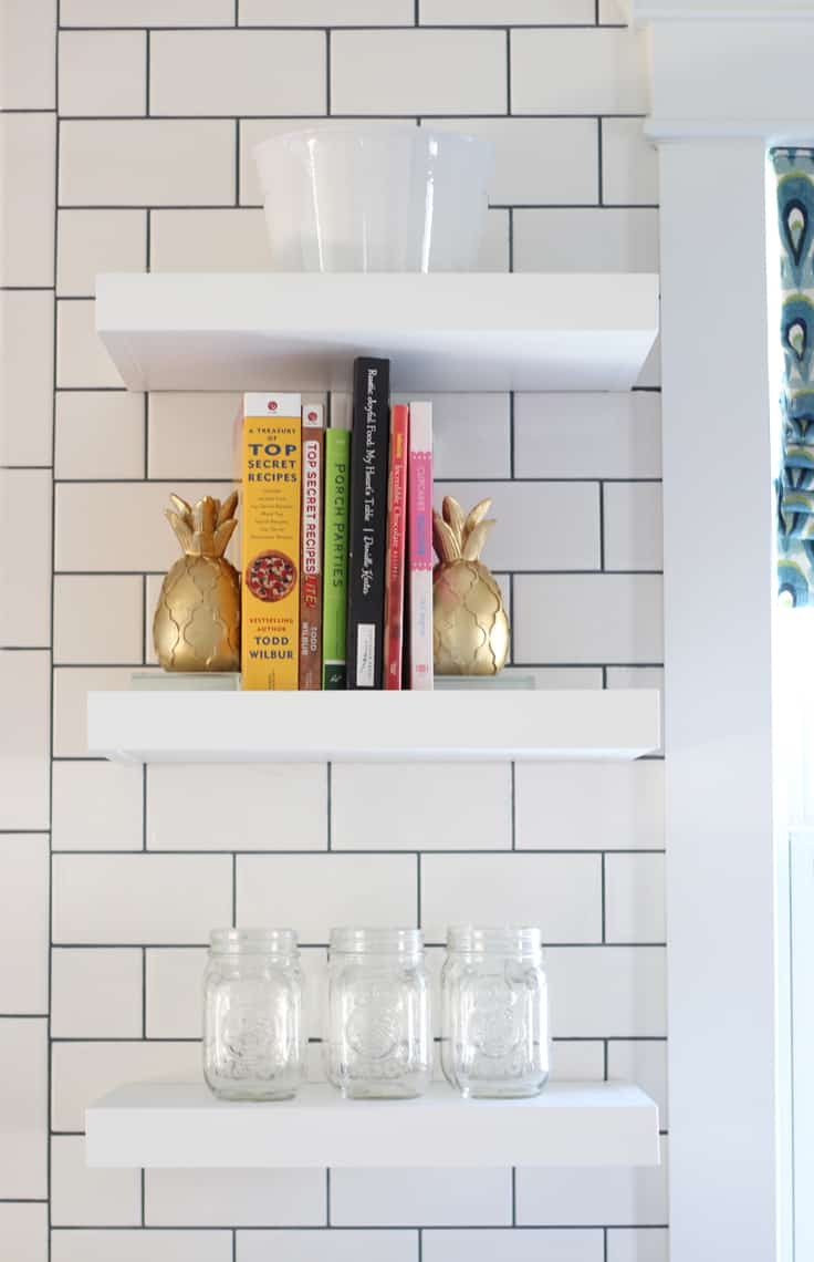 2016 Spring Home Tour floating shelves