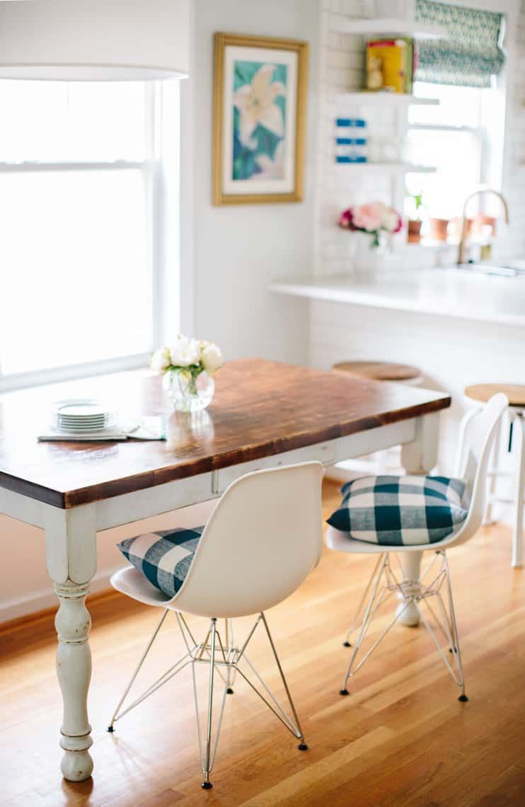Dining Room Update with Stylish Rustic White Chairs