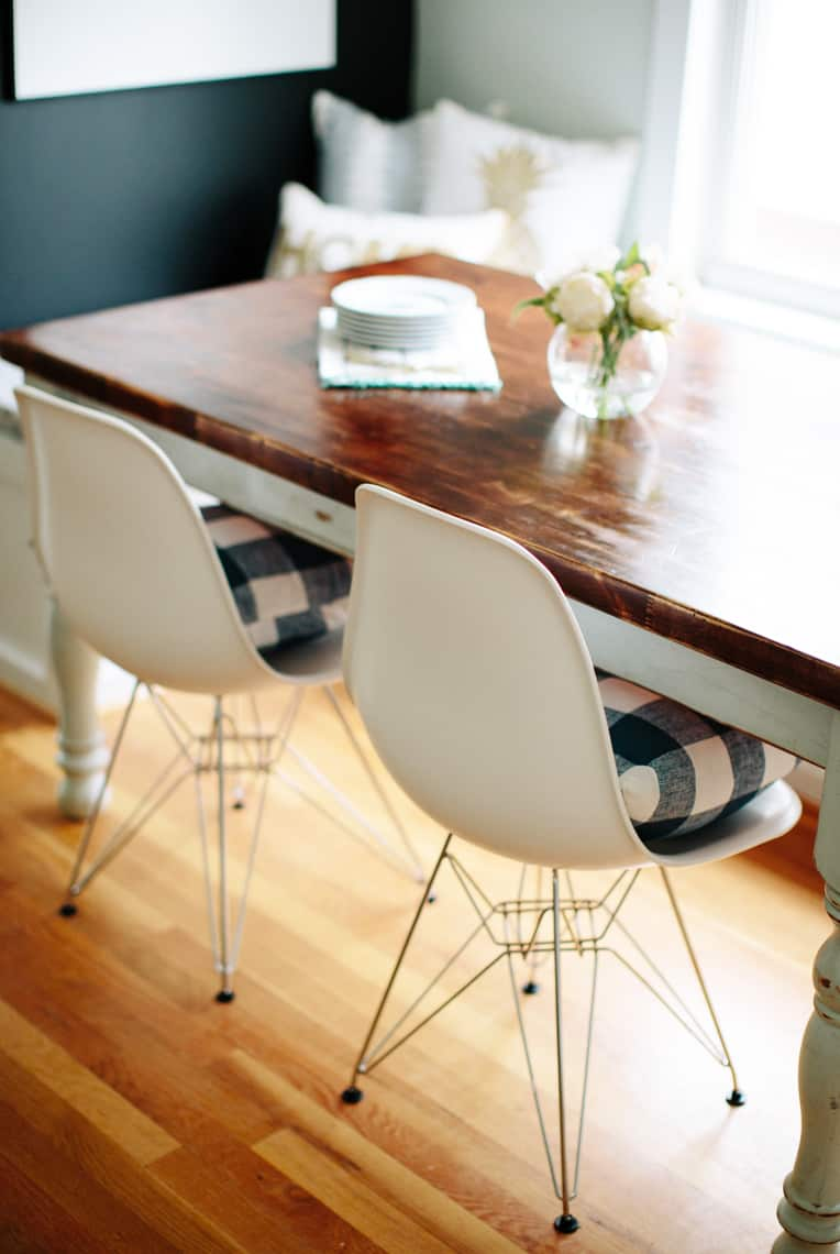 Dining Chairs Update with Stylish Rustic