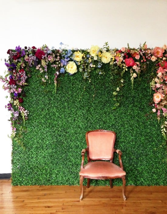 Interior Design Trend: Artificial Boxwood the photo wall