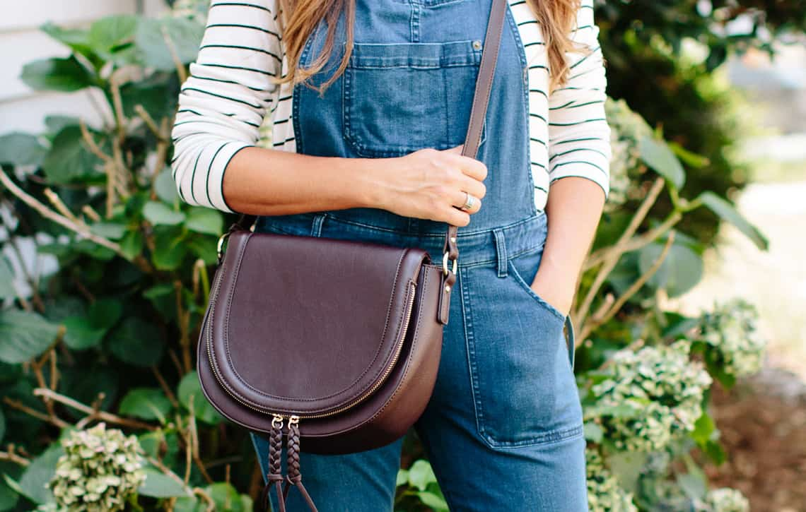 Nordstrom Anniversary Sale: Fit Guide overalls and saddle bag