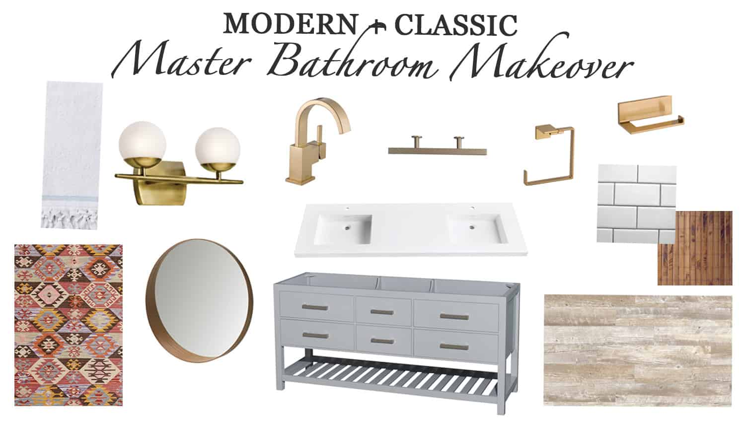 Our Master Bathroom Renovation Progress Report design board