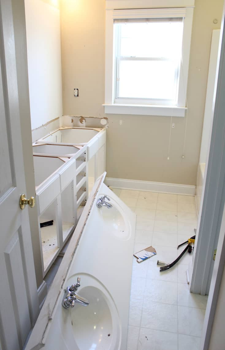 Our Master Bathroom Renovation Progress Report demo