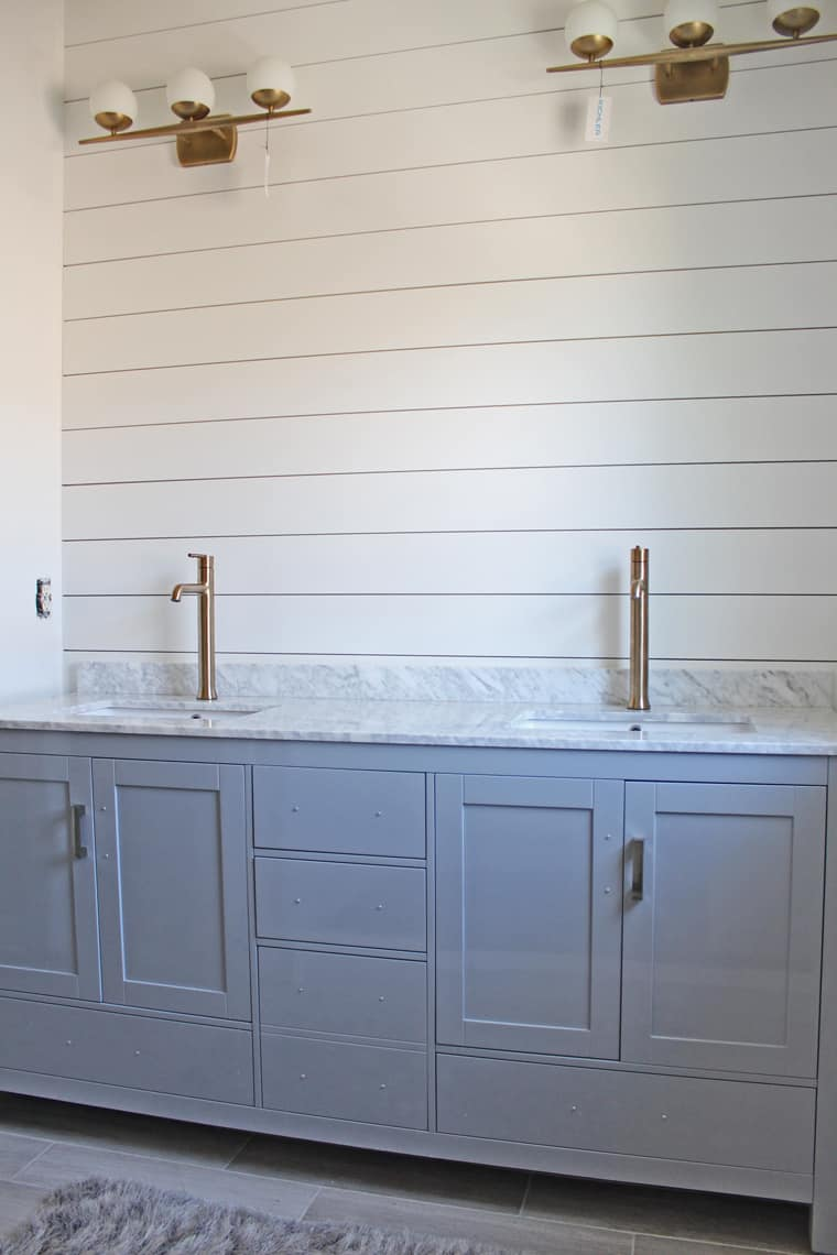 Master Bathroom Renovation: DIY Shiplap Wall Tutorial