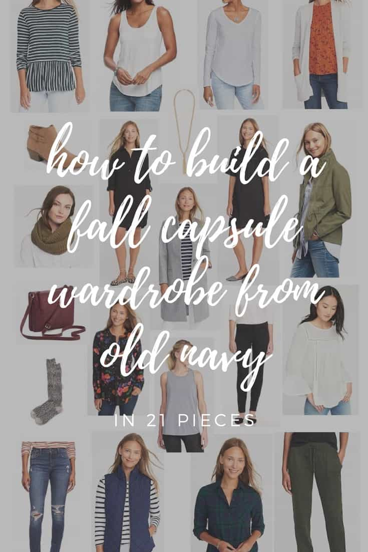 How To Build A Fall Capsule Wardrobe From Old Navy pinterest