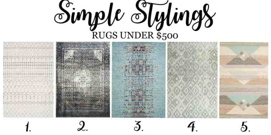 Top 5 Friday: Top 5 Favorite Area Rugs Under $500