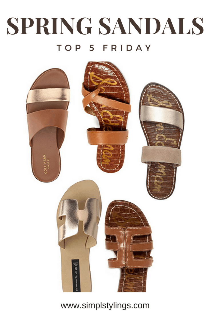 27633444cf907 Top 5 Friday  My Five Favorite Flat Sandals For Spring Lineup