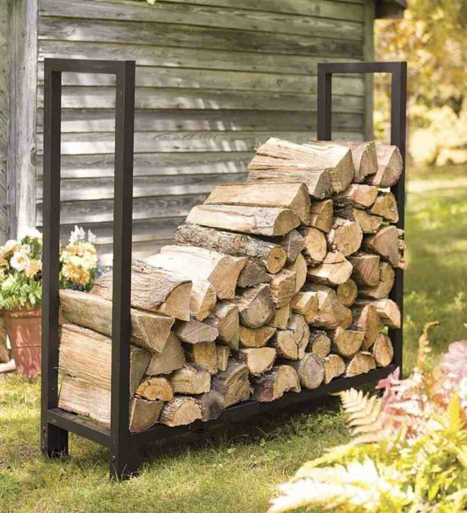 how to build firewood rack for outdoors