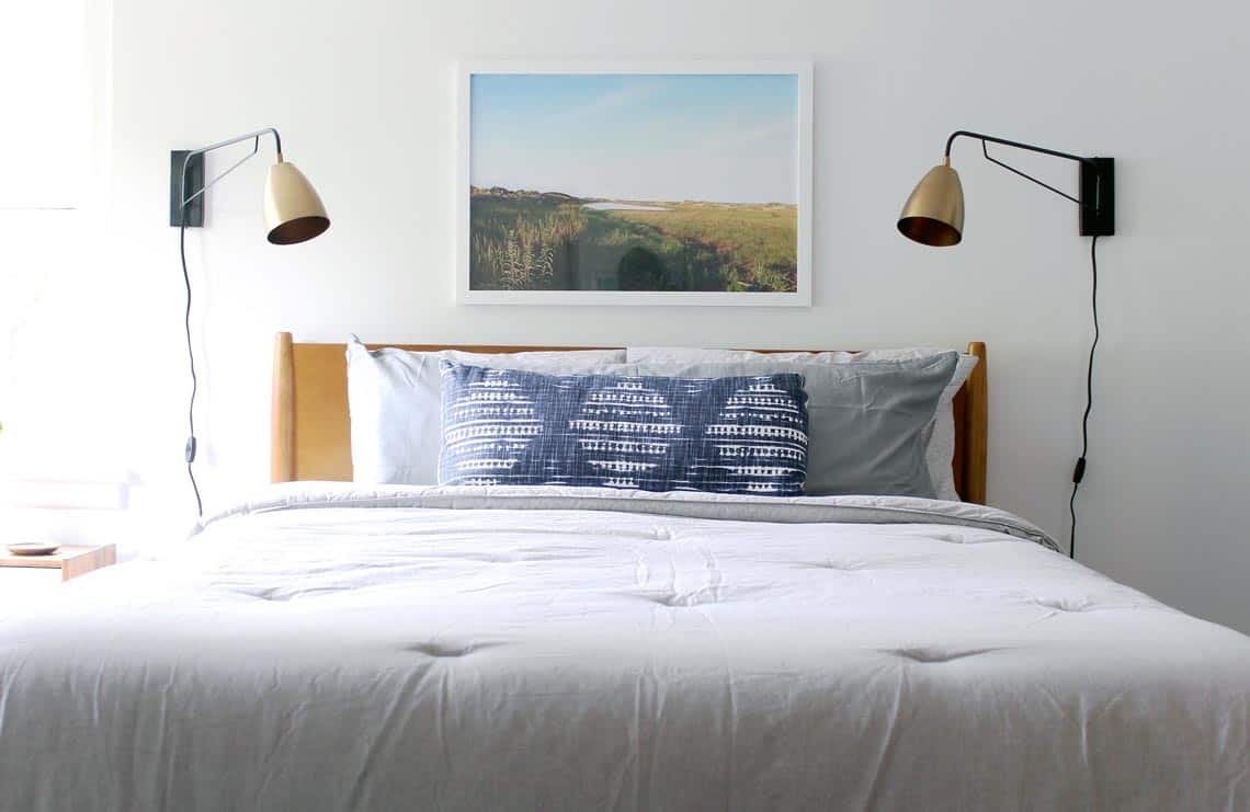 Modern + Neutral Masculine Bedroom Reveal with Solay