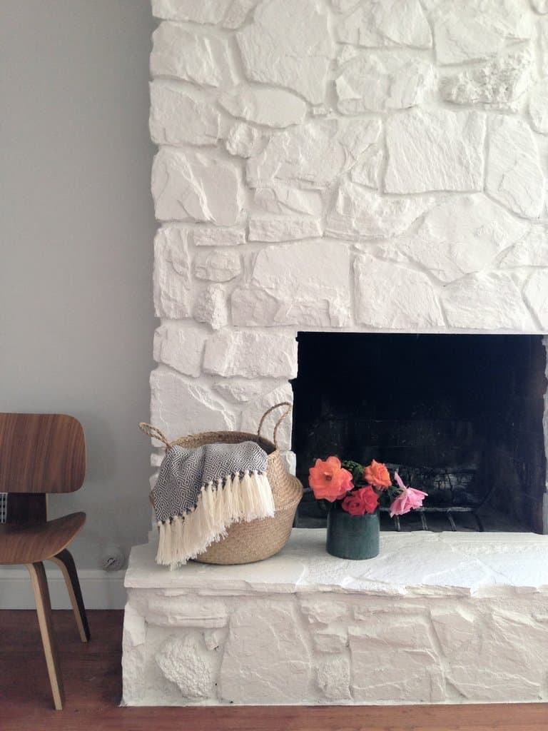 To Paint Or Not To Paint? Stone Tile Fireplace + More large stone