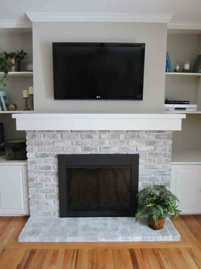 To Paint Or Not To Paint? Stone Tile Fireplace + More brick