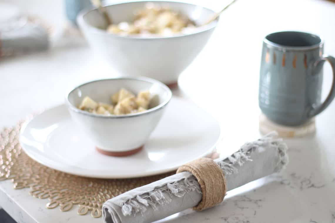 How To Decorate Your Kitchen for Fall + 2 Recipes! napkin rings