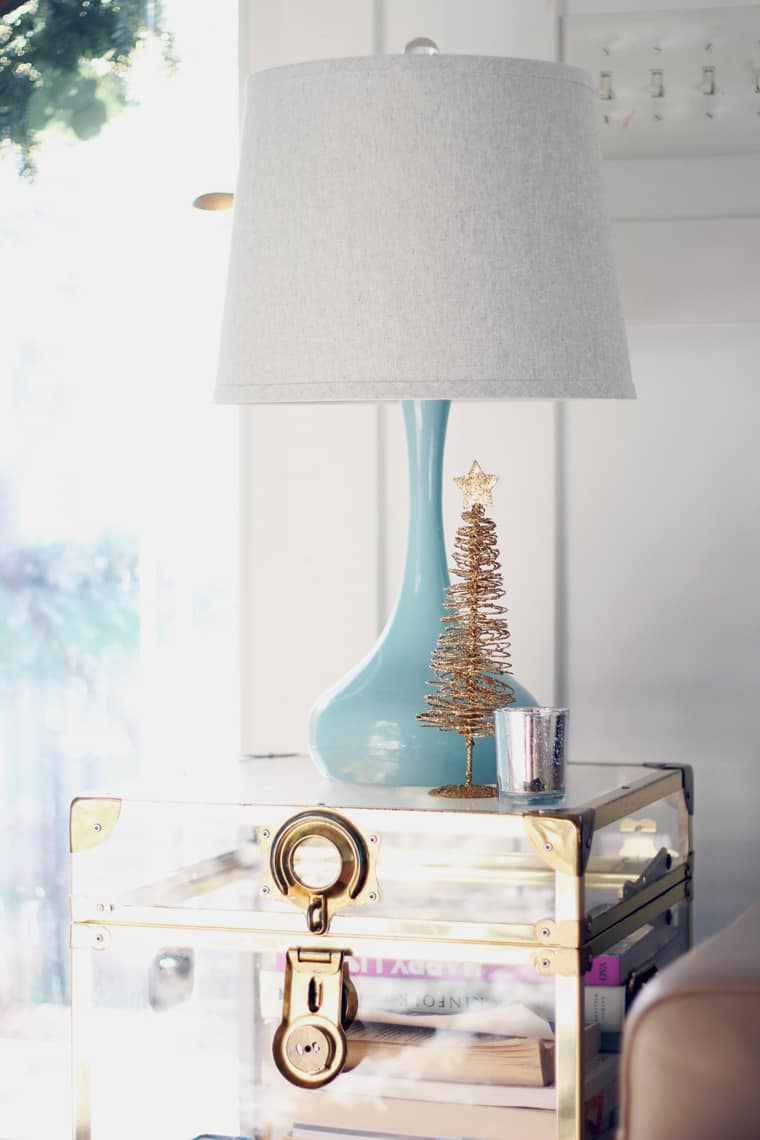 A Gold + Silver Christmas of Lights with At Home trunk