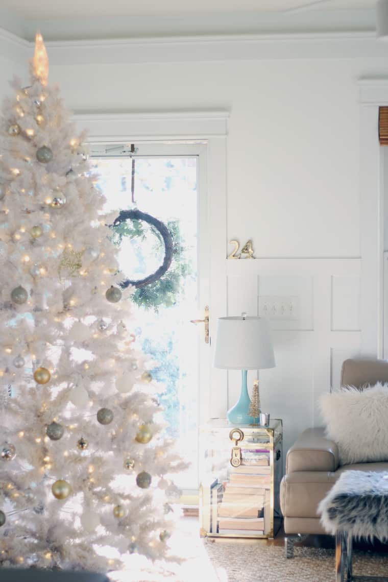 A Gold + Silver Christmas of Lights with At Home tree