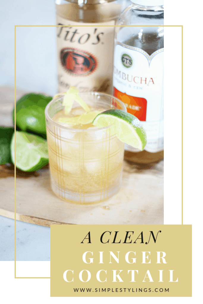 A Clean Ginger Cocktail Recipe pin