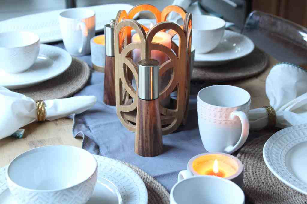 At Home Fall Tablescape dinnerware