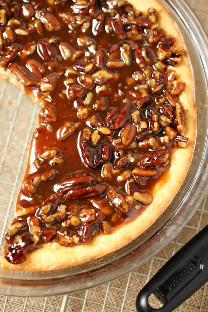 Easy Pecan Cheesecake Pie ~ Simple Sweet Recipes