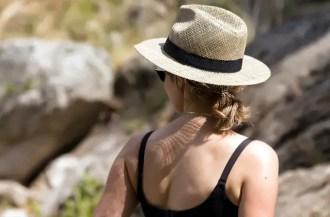hat on girl