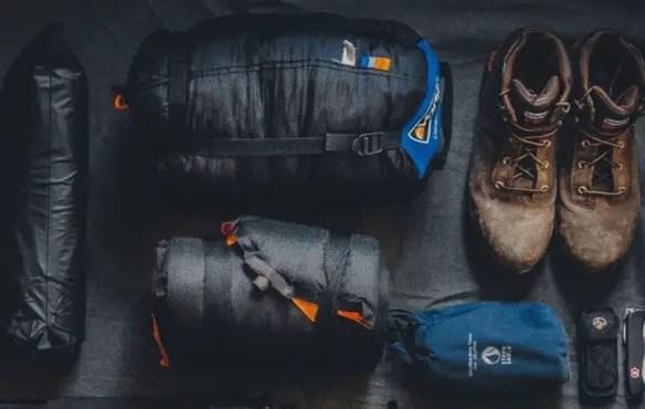 sleeping bag and gear