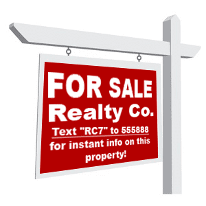 SMS Marketing Real Estate Sign
