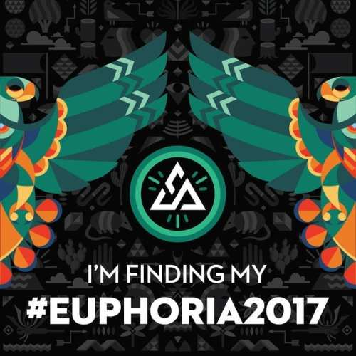 "Graphic featuring totem-style hawks with the Euphoria Fest logo and text: ""I'm finding my #Euphoria2017"""