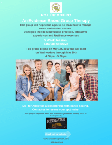 DBT for Anxiety An Evidence Based Group Therapy for Teens