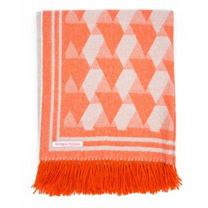 Triangle Orange/Duckegg Throw