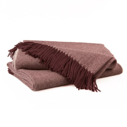 Herringbone Maroon Throw