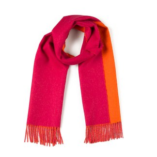 Double-Face Pink Orange Scarf