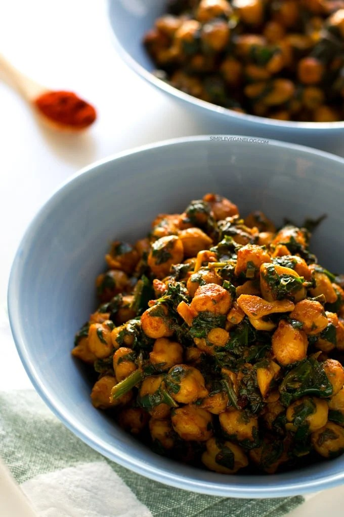 cheap meal ideas. Spanish Spinach with Chickpeas