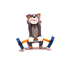 Weightlifting Tom. Or Jerry.  src:  http://www.flickr.com/photos/yogi/280741410/  http://www.flickr.com/photos/yogi/