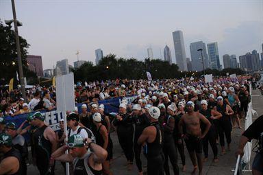 Chicago Triathlon Swim Chute